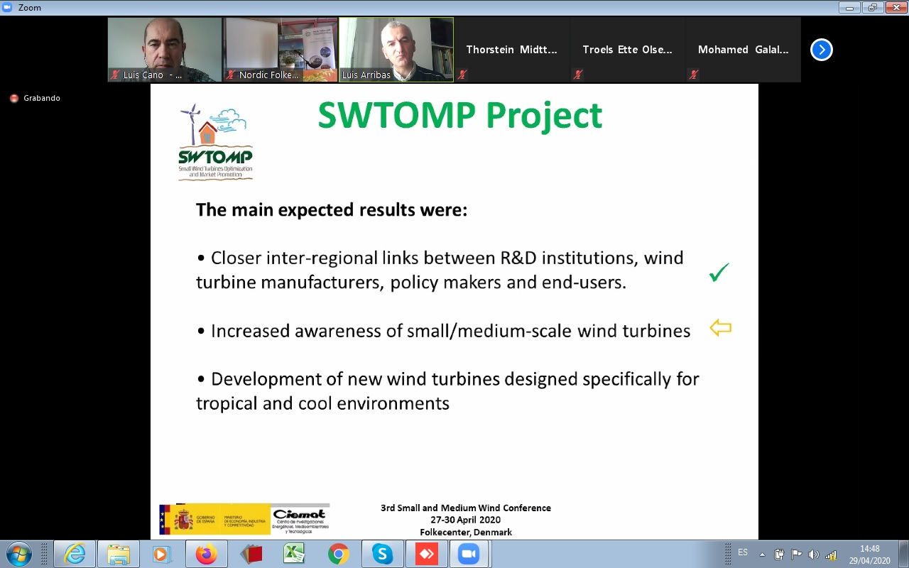 SWTOMP at the at the 3rd International Small & Medium Wind Workshop